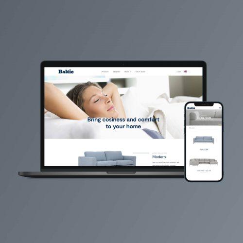 Online furniture catalogue and representational website UX UI design